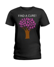 Breast Cancer Find A Cure Ladies T-Shirt thumbnail