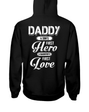 Daddy Son's First Hero Daughter's First Love Hooded Sweatshirt tile