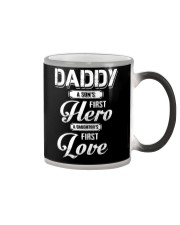 Daddy Son's First Hero Daughter's First Love Color Changing Mug tile