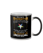 Daughter Mom Proud Of The Woman You Have Become Color Changing Mug thumbnail