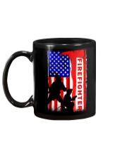 Firefighter American flag Mug tile