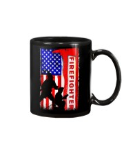 Firefighter American flag Mug thumbnail