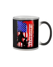 Firefighter American flag Color Changing Mug thumbnail