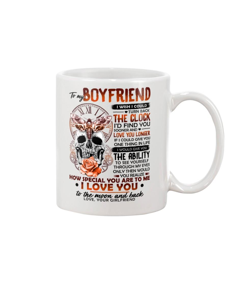 Butterfly Boyfriend Clock Ability Moon Mug