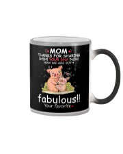 Pig Mom Share DNA Color Changing Mug tile