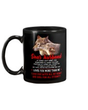 I May Upset You Husband Wolf Gift Mug back