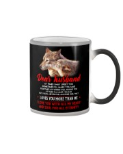 I May Upset You Husband Wolf Gift Color Changing Mug tile