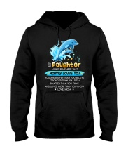 Dolphin Daughter Mom Mommy Loves You Hooded Sweatshirt thumbnail