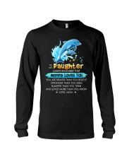 Dolphin Daughter Mom Mommy Loves You Long Sleeve Tee thumbnail