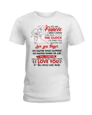 Family Fiancee Be Yours Clock Moon Ladies T-Shirt thumbnail