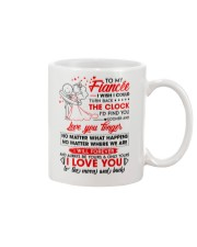 Family Fiancee Be Yours Clock Moon Mug front