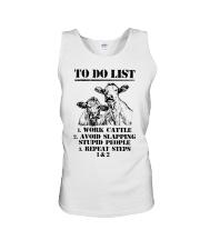 Farmer to do list shirt Unisex Tank thumbnail