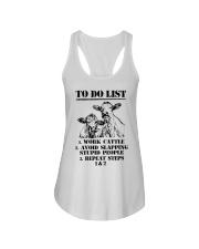 Farmer to do list shirt Ladies Flowy Tank thumbnail