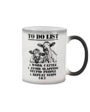 Farmer to do list shirt Color Changing Mug thumbnail