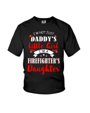 I'm firefighter's daughter shirt Youth T-Shirt front