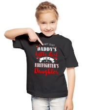 I'm firefighter's daughter shirt Youth T-Shirt lifestyle-youth-tshirt-front-2