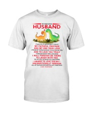 Dinosaur Faithful Partner True Love Husband Classic T-Shirt thumbnail