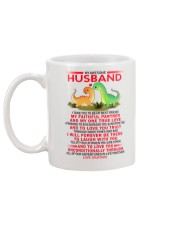 Dinosaur Faithful Partner True Love Husband Mug back