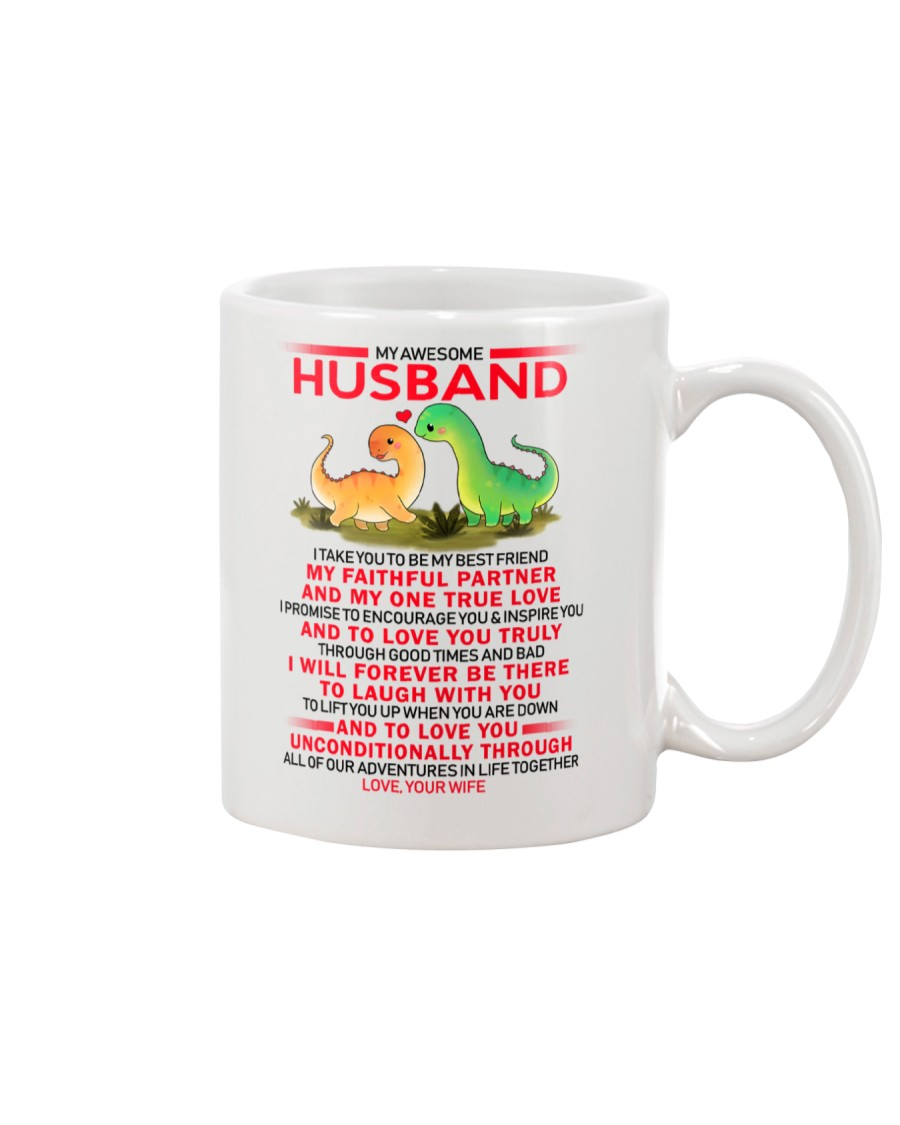 Dinosaur Faithful Partner True Love Husband Mug
