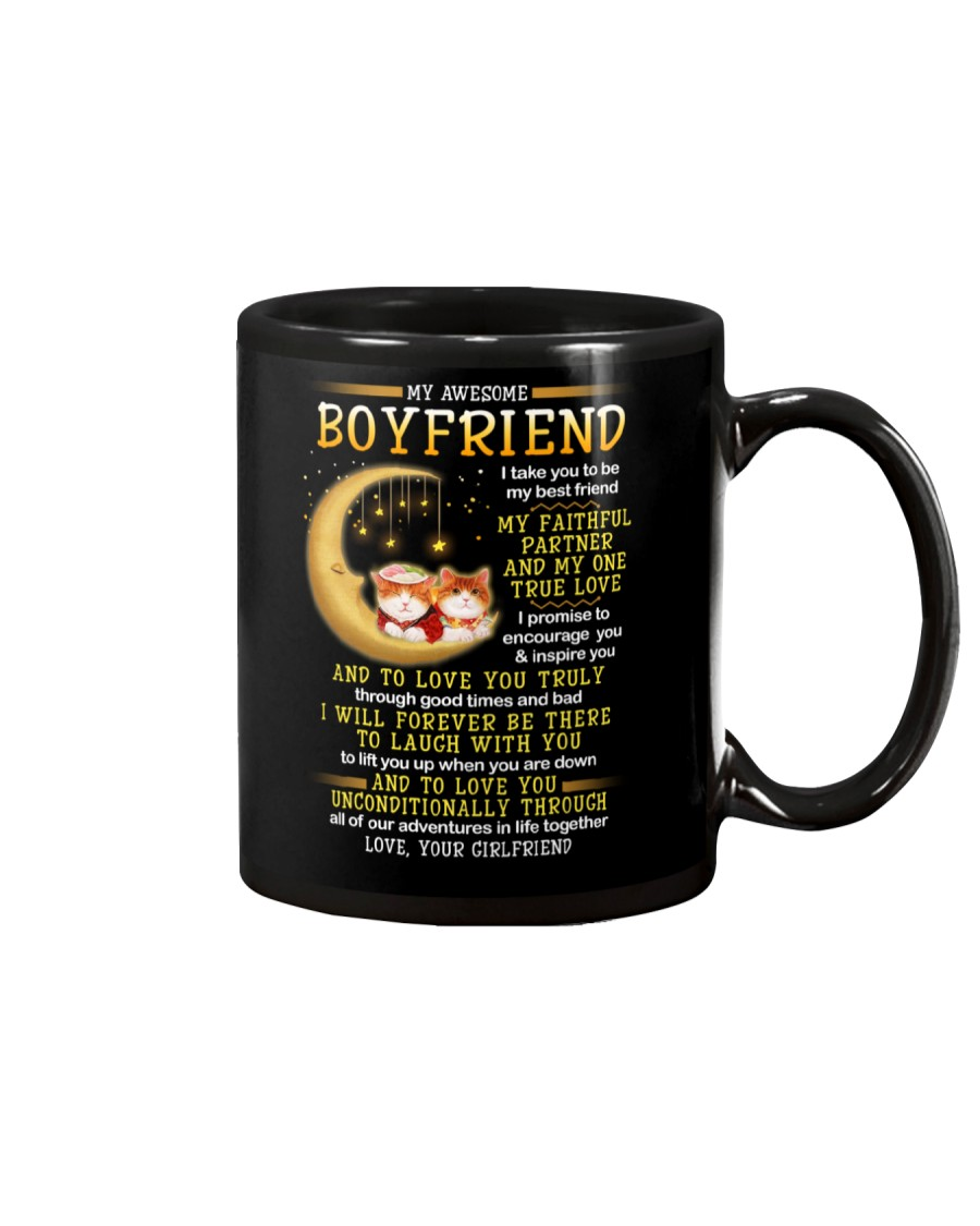 Cat Faithful Partner True Love Boyfriend Mug