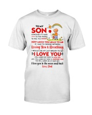 Family Son Dad Breathing Support Moon Classic T-Shirt thumbnail