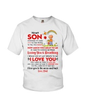 Family Son Dad Breathing Support Moon Youth T-Shirt thumbnail