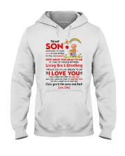 Family Son Dad Breathing Support Moon Hooded Sweatshirt thumbnail