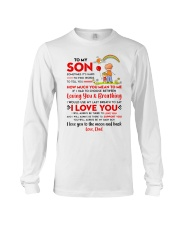 Family Son Dad Breathing Support Moon Long Sleeve Tee thumbnail