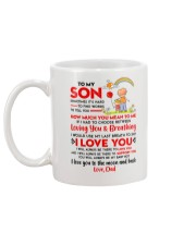 Family Son Dad Breathing Support Moon Mug back
