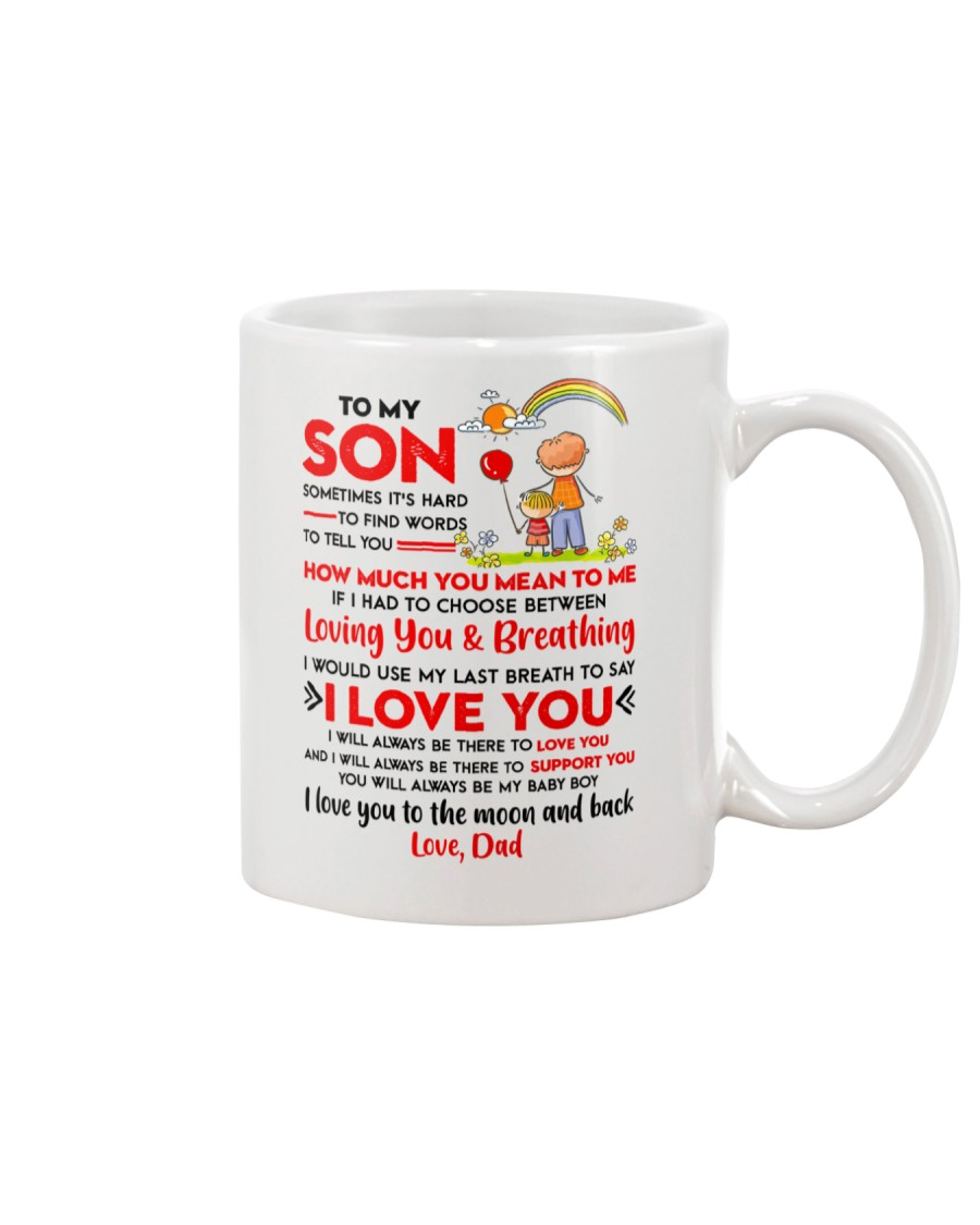 Family Son Dad Breathing Support Moon Mug