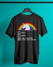 Unicorn Dont Date Humans Classic T-Shirt lifestyle-mens-crewneck-front-3