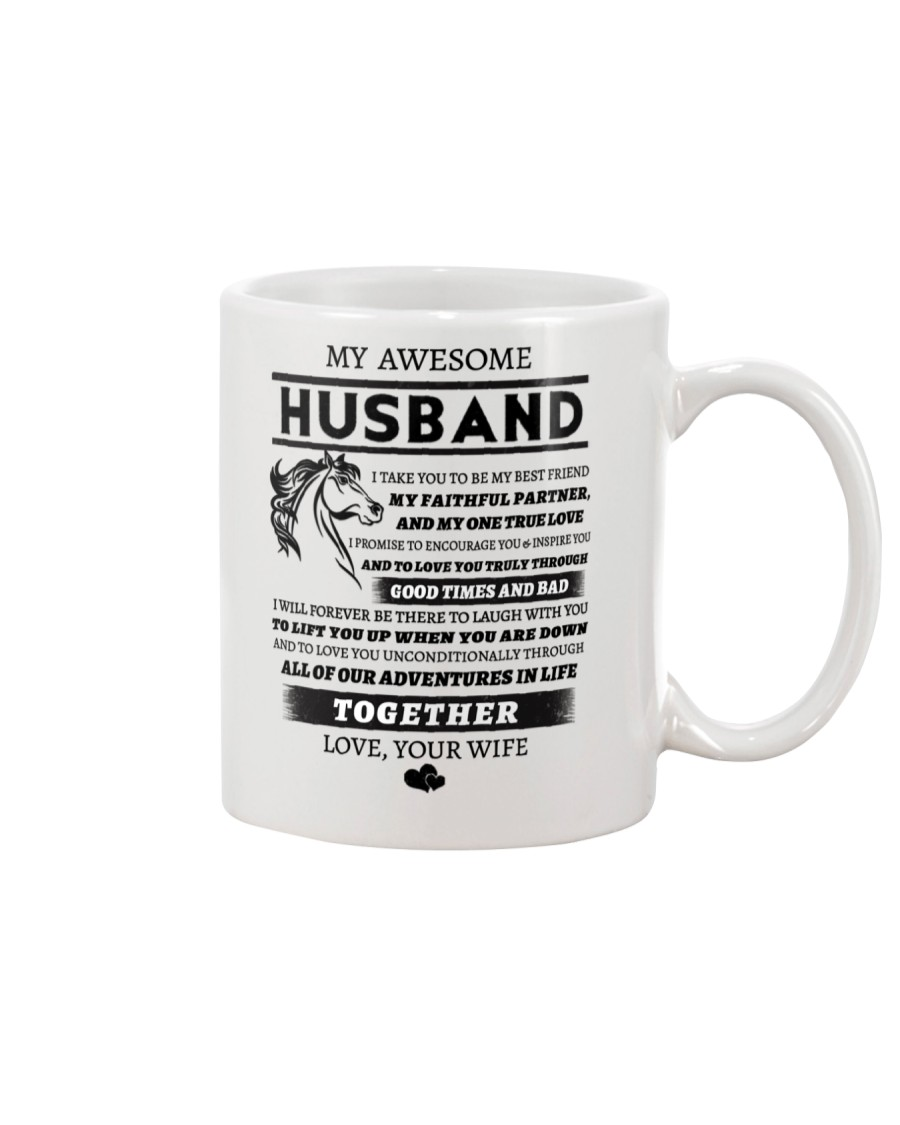 Faithful Partner True Love Wife Horse Mug