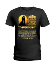 Firefighter Wife Lucky To Live Amazing Life Ladies T-Shirt thumbnail