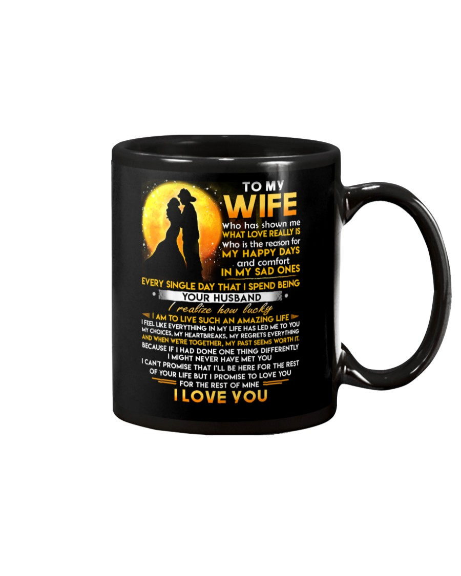 Firefighter Wife Lucky To Live Amazing Life Mug