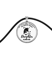 Unicorn My Little Girl My Daughter Forever Cord Circle Necklace tile