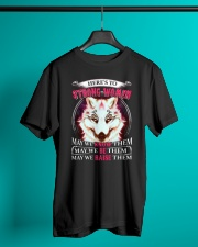Strong Woman Wolf Classic T-Shirt lifestyle-mens-crewneck-front-3