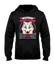 Strong Woman Wolf Hooded Sweatshirt thumbnail