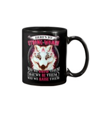 Strong Woman Wolf Mug thumbnail