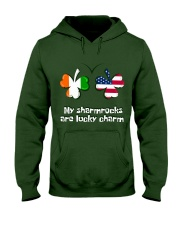 Patrick's day Sharmrocks Lucky Hooded Sweatshirt thumbnail