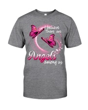 Breast Cancer Angels Among Us Classic T-Shirt front