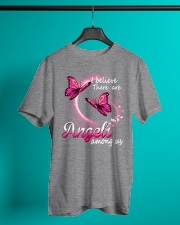 Breast Cancer Angels Among Us Classic T-Shirt lifestyle-mens-crewneck-front-3