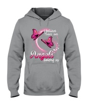 Breast Cancer Angels Among Us Hooded Sweatshirt thumbnail