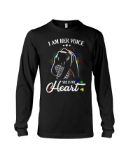 Autism Bear Her Voice My Heart Long Sleeve Tee thumbnail