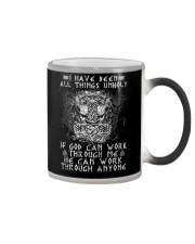 God Can Work Through Me Viking Color Changing Mug thumbnail