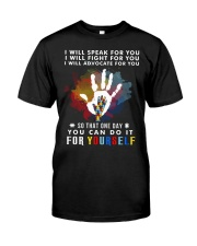 Autism One Day Fight For Yourself Classic T-Shirt front