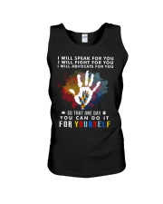Autism One Day Fight For Yourself Unisex Tank thumbnail