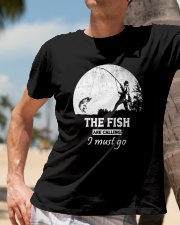 I Must Go Fishing  Classic T-Shirt lifestyle-mens-crewneck-front-11