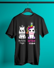 Unicorn Before After Yoga Classic T-Shirt lifestyle-mens-crewneck-front-3