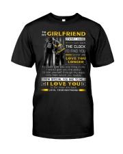 Firefighter Girlfriend Clock Ability Moon Classic T-Shirt tile