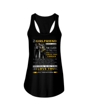 Firefighter Girlfriend Clock Ability Moon Ladies Flowy Tank thumbnail